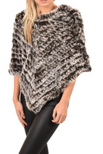 Chocolate Fur Poncho RF1324A-D04