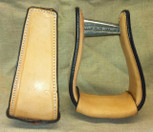 Straight Time Stirrups Little Britches Sewn Leather Stirrup Light Oil