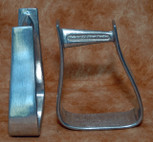 Straight Time Stirrups Cow Horse Stirrup Burnished Aluminum