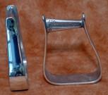 Straight Time Stirrups Barrel Stirrup Polished Aluminum