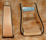 Straight Time Stirrups Cow Horse Leather Sewn Stirrup Light Oil