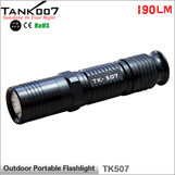 14500/AA battery 190LM lumens flashlight USA Cree XP-G R5 led torch torches aluminum alloy flashlights TANK007 TK507