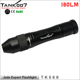 TANK007 flashlight  TK568 Jade jeweler appraisal Expert Flashlight 160LM Cree led torch with Aluminum Head white light