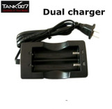 TANK007 3.7V Li-ion Rechargeable for two 18650 Battery AC Charger USA Plug