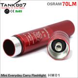 TANK007 HM01 OSRAM Outdoor Mini Flashlight 70 lumen led torch promotion gift finger size flashlight