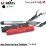 8cm only led flashlight mini everyday carry / EDC flashlight torch TANK007 TK703