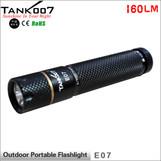 TANK007 E07 mini led torch Cree XP-G R5 160 lumens flashlight mental gift package