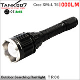 TANK007 TR08 High Power Outdoor Searching Flashlight Diving flashlight 1000LM