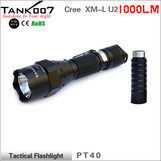 TANK007 PT40 1000 lumens tactical led flashlight with extended tube waterproof totally