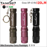 Mini portable gift led keychain flashlight Cree R3 led torch  AAA battery TANK007 E09