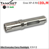 Cree R3 gift mini keychain led flashlight stainless steel body 120 lumen Tank007 ES12