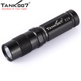 TANK007 E19 CREE XP-G R5 180LM 3-Mode EDC Camping LED Flashlight Torch+Keychain