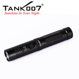 Free shipping TANK007 high power light led rechargeable  flashlight portable torch TC128