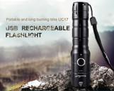 800 lumen Rechargeable LED flashlight UC17 (Set)