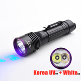 Tank007 NDT forensic dual LED torch white uv 365 flash light black light flashlight torchlight rechargeable 365nm flashlight uv