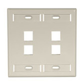 Leviton wallplate 4 port dual gang, 42080-4
