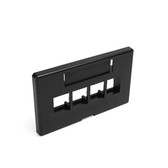 Leviton wallplate modular furniture 4port black, 49910-HE4 large