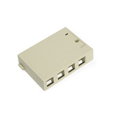 Leviton surface mount box, 4 port, 41089-4
