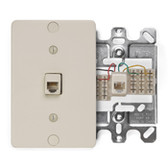 Leviton  4 conductor, wall mount, plastic 40253-I