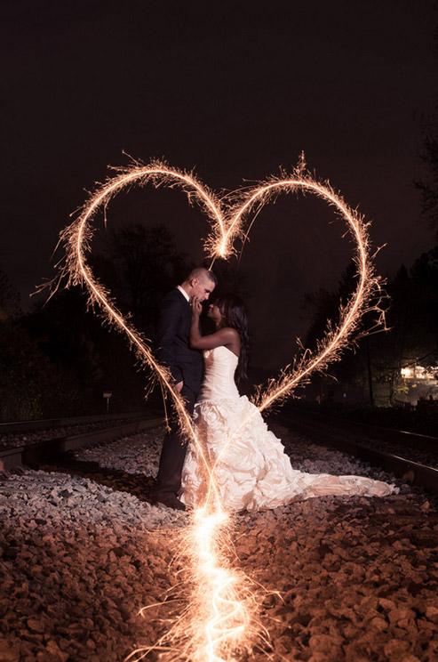 Wedding Sparkler Photos Brides Adore