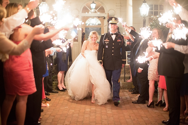wedding sparkler exit photo