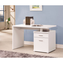 Gorgeous white Wooden desk with cabinet