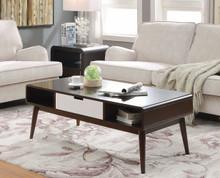 Trendy Coffee Table, Espresso & White