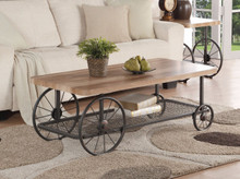 Modish Coffee Table, Oak & Antique Gray