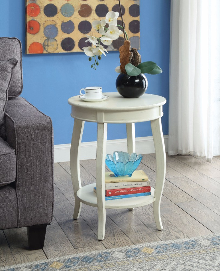 Fashionable Side Table, Antique White