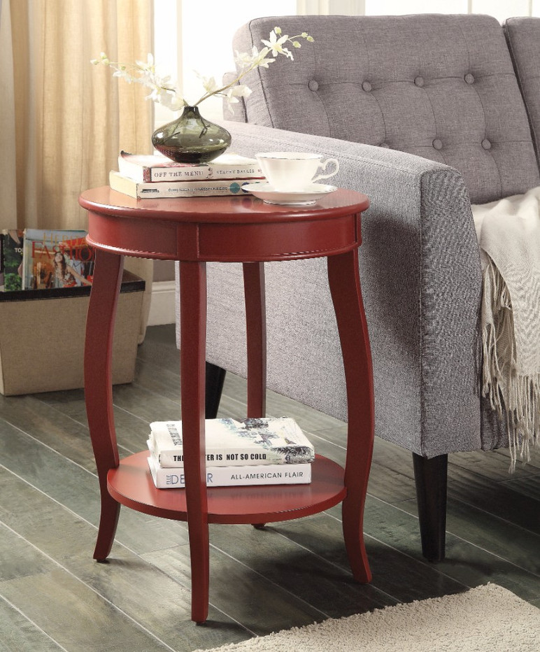 Trendy Side Table, Red