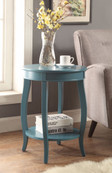 Affiable Side Table, Teal Blue