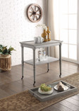 Wooden Serving Tray Table, Gray