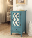 Trendy Side Table, Teal Blue