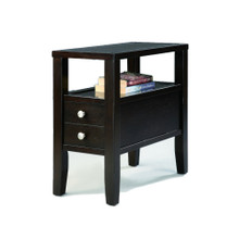 Amiable Chairside Table, Dark Espresso