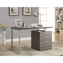 Modish Office Desk with File Drawer, Gray