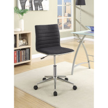 Contemporary Mid-Back Desk Chair, Black