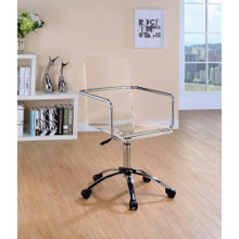 Modern Design Transparent Acrylic Adjustable Office Chair, Clear