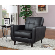 High-toned Accent Chair, Black