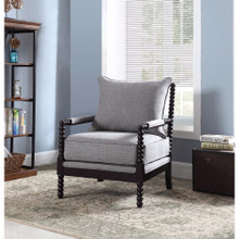 Turned Designing Accent Chair, Gray