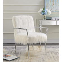 Elegantly Chic Accent Chair, White
