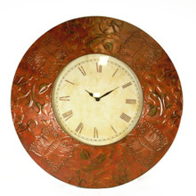 Antique Metal Wall Clock, Bronze