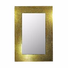 Mosaic Rectangular Mirror, Gold