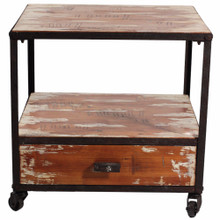 Wooden Side Table, Brown