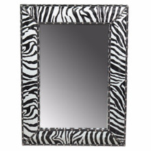 Wooden Mirror, Black And White