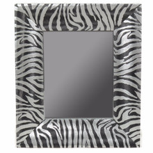 Wooden Mirror, Black And Silver