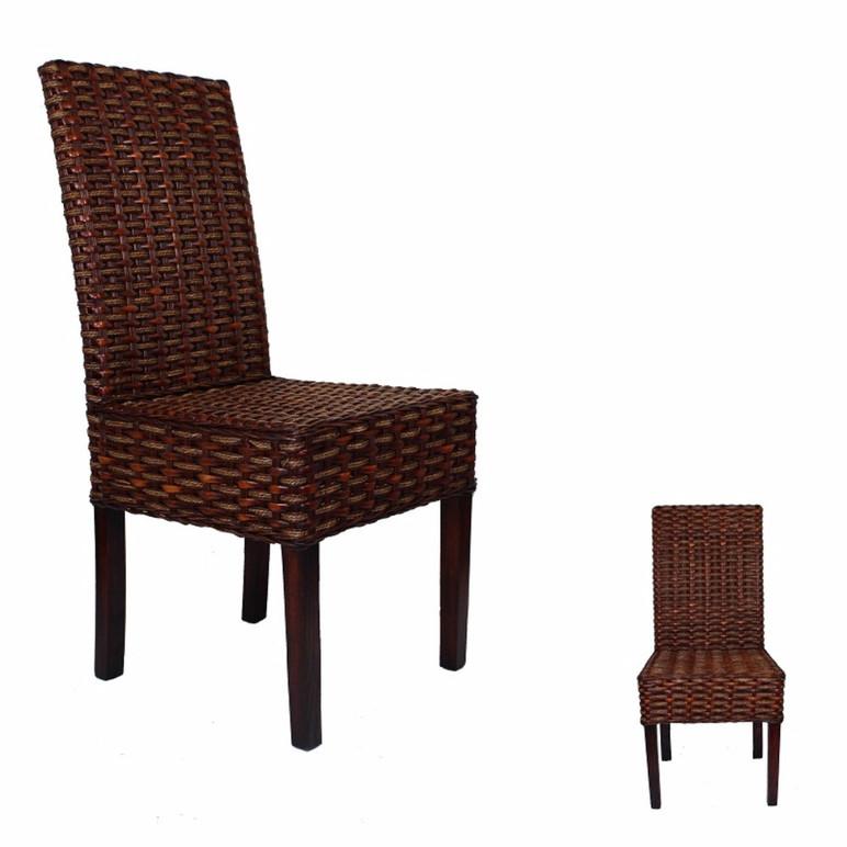 Rattan Chair, Brown - EventsWholesale.com