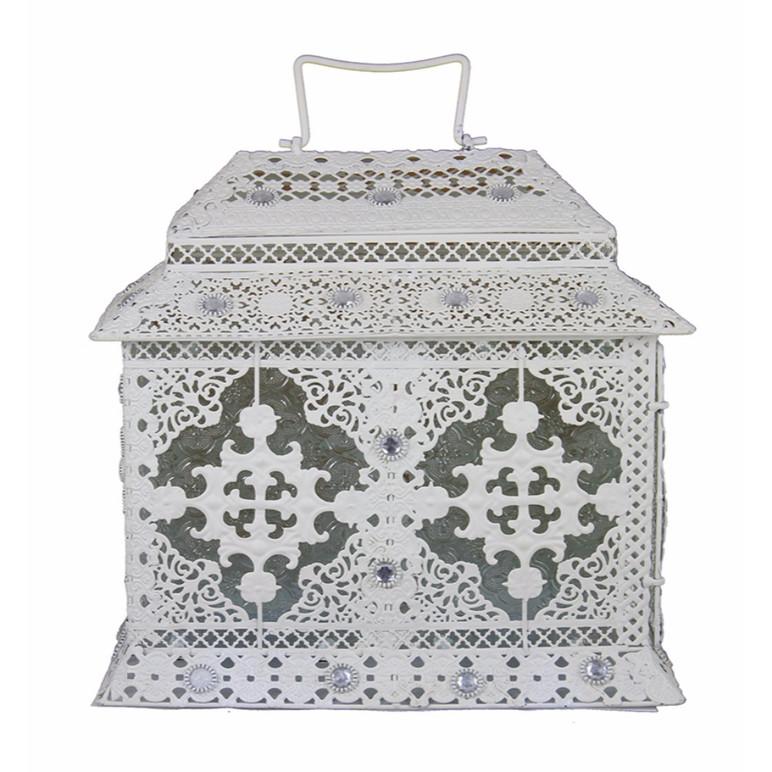 Metal Lantern,White