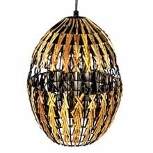 decorative Rattan Hanging Lantern, Brown And Black