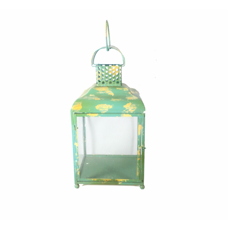 Metal Candle Holder, Green