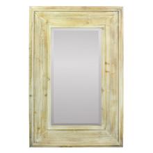 Rustic Mirror In Wooden Frame, Brown